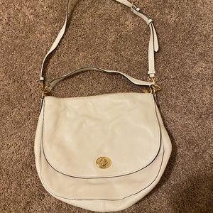White/Gold coach purse